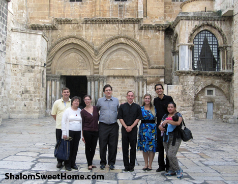 Outside the Holy Sepulchre